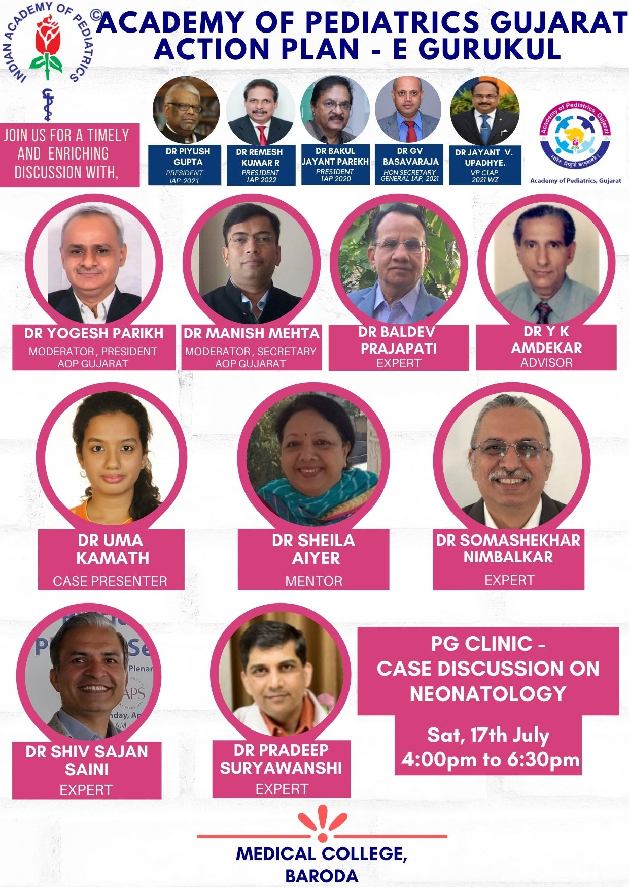 17th-July-AOP-Gujarat-Action-Plan-PG-Clinic-case-discussion-on-Neonatology