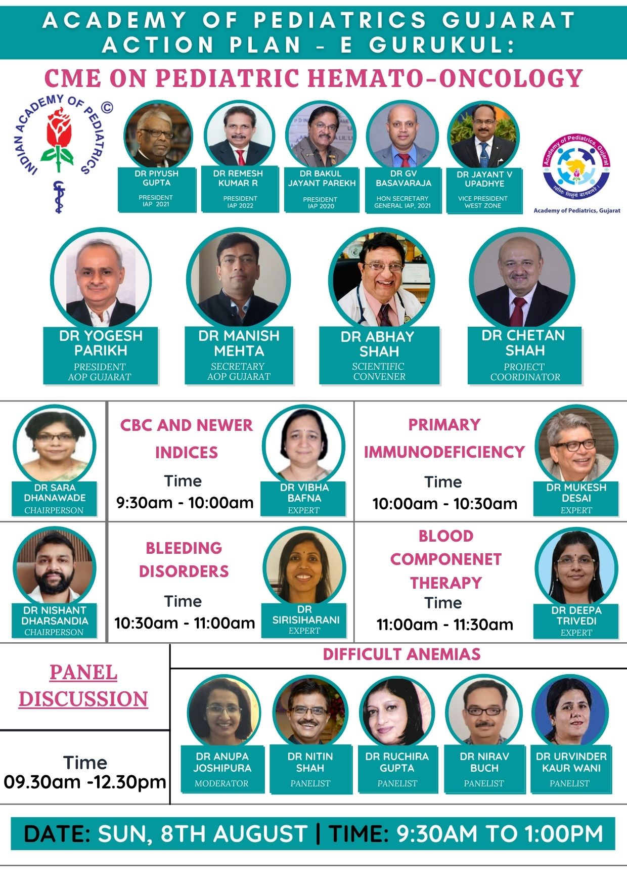 ,8th August,AOP Gujarat Action Plan CME on Pediatric Hematooncology